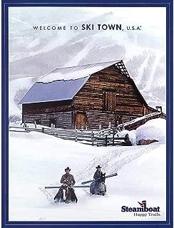 Steamboat Barn Happy Trails Colorado Ski Poster, 18 x 24 inches