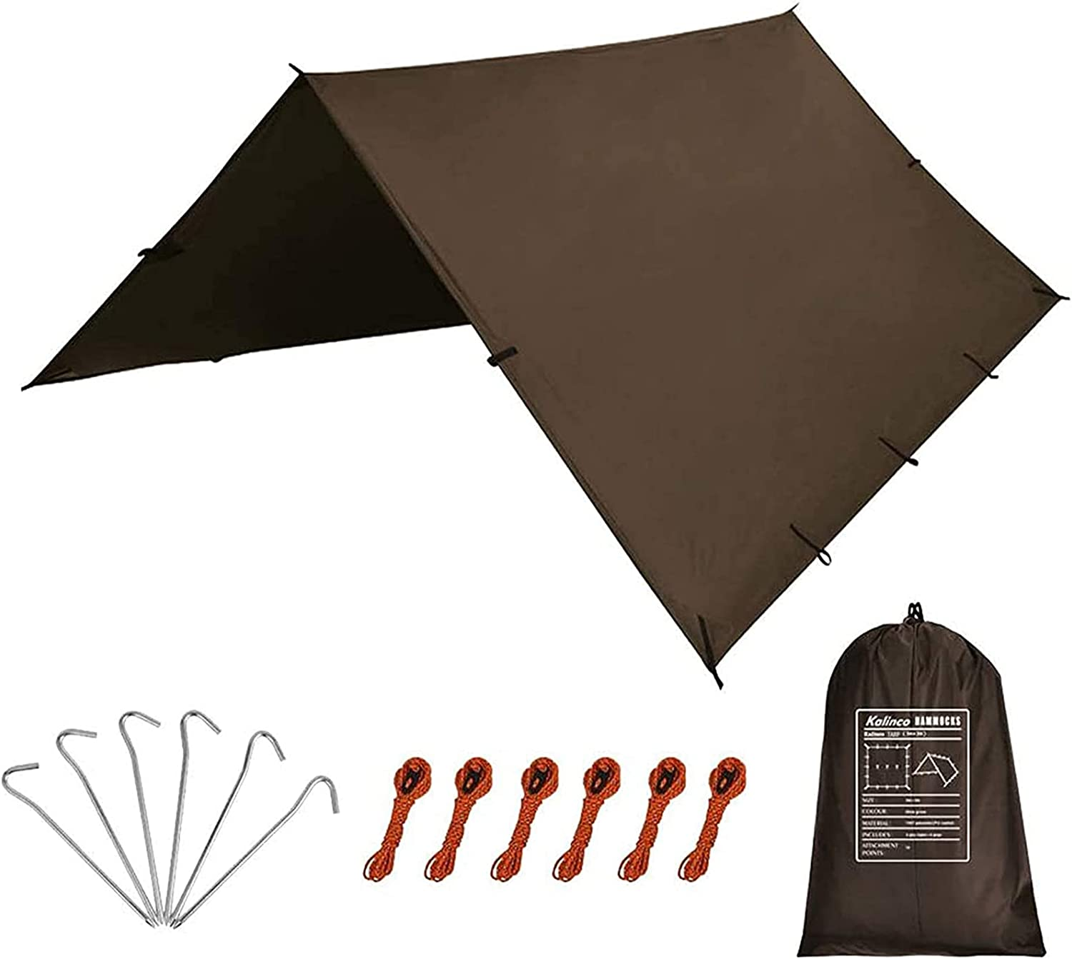 Sales results No. 1 KALINCO Waterproof Camping Tarp Tent 10X10FT Free shipping anywhere in the nation Hammock Fly Rain 1