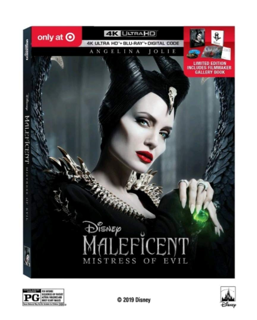 Maleficent: Mistress of Evil (Target exclusive) (4K UHD/Blu-ray/Digital) includes Filmmaker Gallery Book