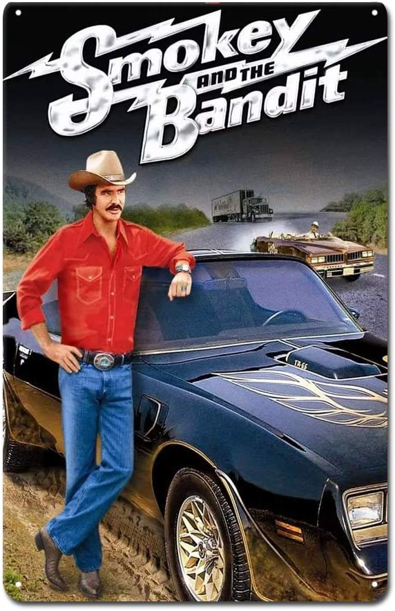 Smokey and The Bandit Poster Metal Tin Sign Funny Tin Signs Pub Bar Home Wall Home Decor 8X12inches
