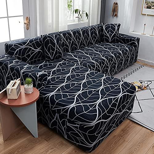 Funda de sofá elástica seccional para Sala de Estar Funda de sofá en Forma de L Funda de sillón decoración del hogar A10 3 plazas
