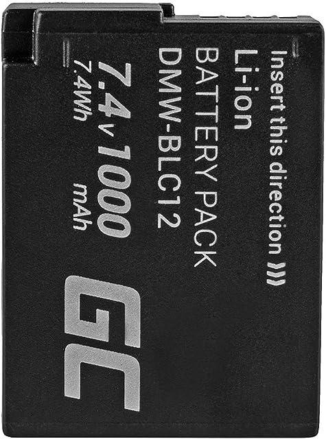 Green Cell® DMW-BLC12 DMW-BLC12E DMW-BLC12PP Batería para Panasonic Lumix FZ200 FZ300 FZ330 FZ1000 FZ2000 G5 G5X G6 G7 G70 G70M G80 G81 GX8 GX8M H2 Cámara Full Decoded (1000mAh 7.4V)