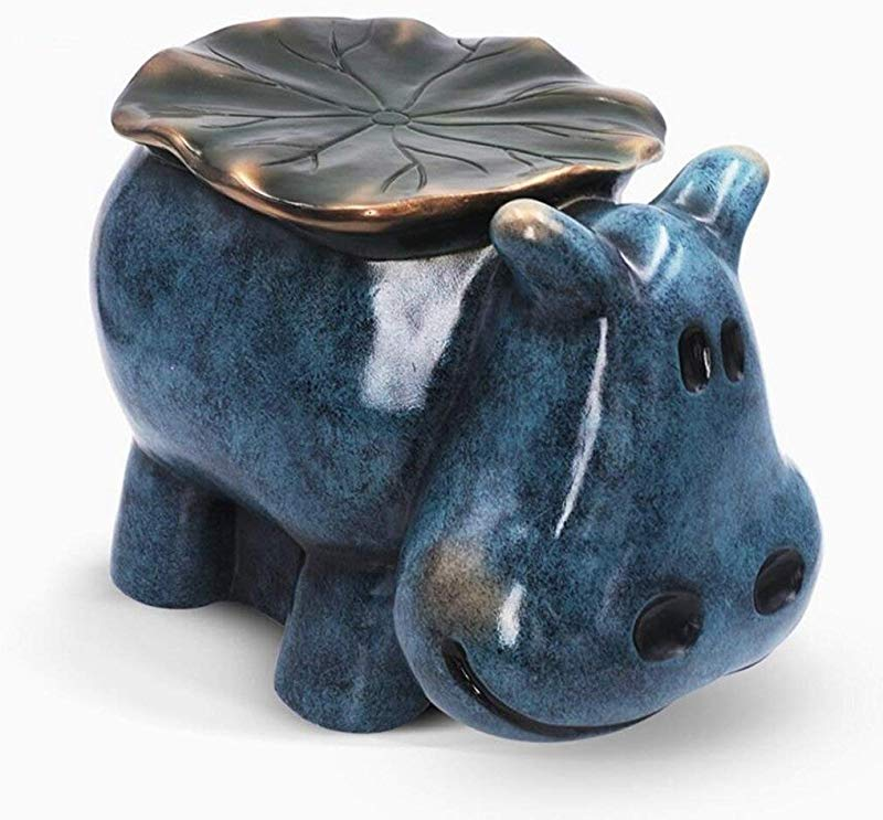 Carl Artbay Wooden Footstool Hippo Style Creative Stool Living Room Interior Decoration Wedding Gifts Resin Home