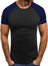 Camiseta para Hombre, ?Olvido Camisas de Moda de Verano para Hombres Camiseta de Manga Corta Deportivas Casual Tops Blusa Pollover Tops tee Color Gris/Rojo, Talla S-XL (S, Armada)
