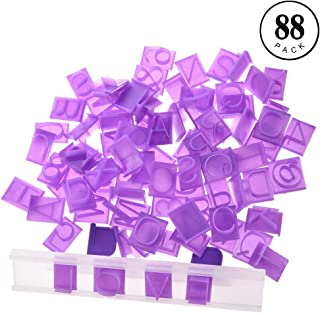 Cookie Stamp, 88PCS Alphanumeric Cookie Stamp Including Punctuation Stamps Embossing Knife Switch Fondant Cake DIY Tool Purple