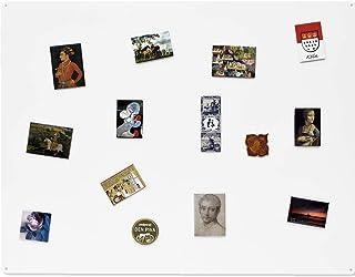 KalaMitica 25074-900-057 Pizarra para imanes, Acero, Blanco, Dimensiones 74x57x0.12cm