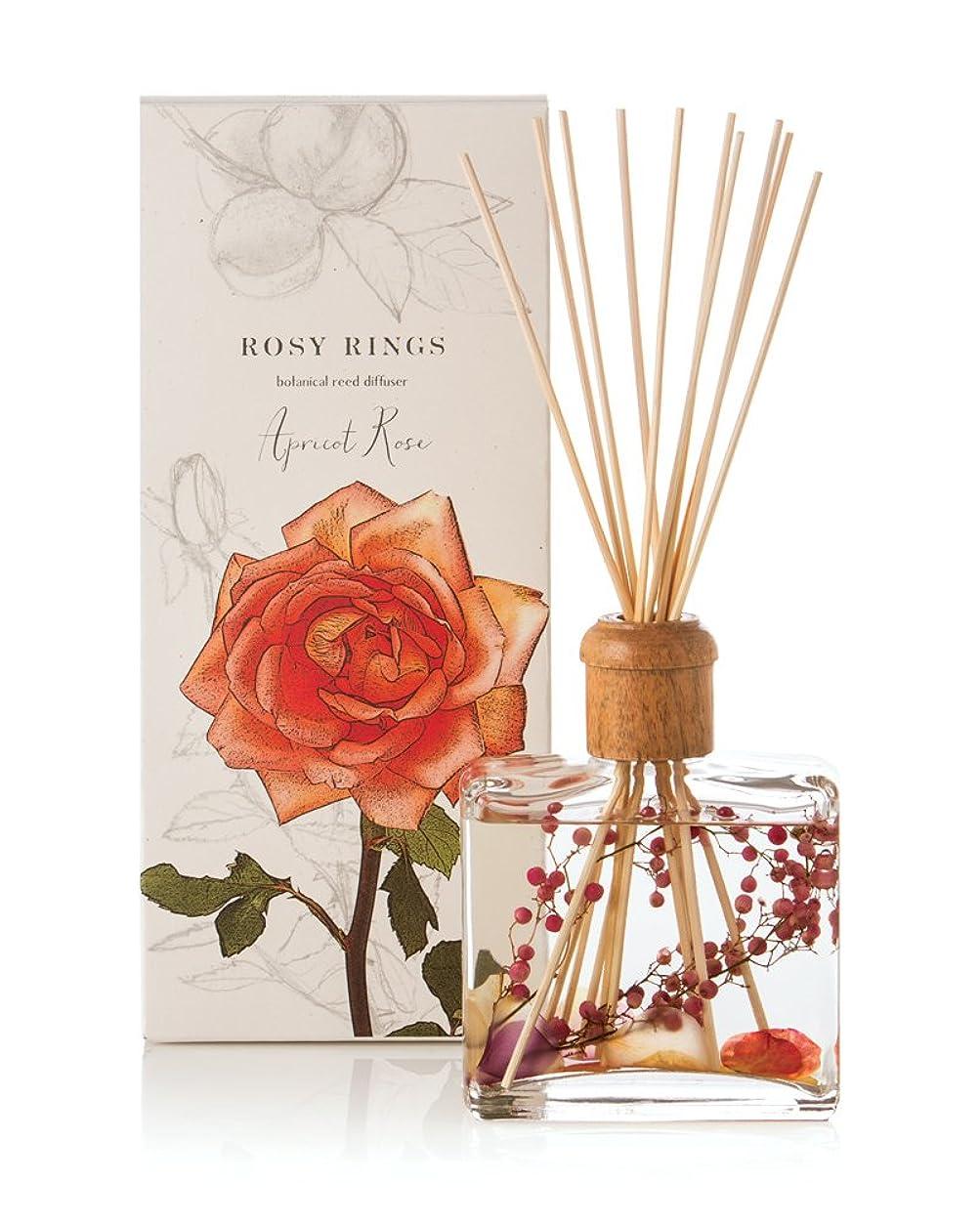 貢献出席ロードハウスロージーリングス ボタニカルリードディフューザー アプリコット&ローズ ROSY RINGS Signature Collection Botanical Reed Diffuser – Apricot Rose