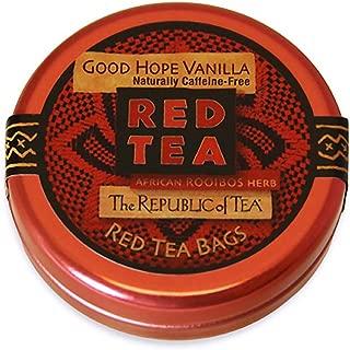 The Republic Of Tea Good Hope Vanilla Tea, 6 Tea Bags, Caffeine-Free, Gourmet Rooibos Red Tea Blend