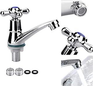 FIGFYOU Handfat kran enkel kall kran handfat blandare kranar ett handtag vatten munstycke kallt vatten kran badrum gardero...