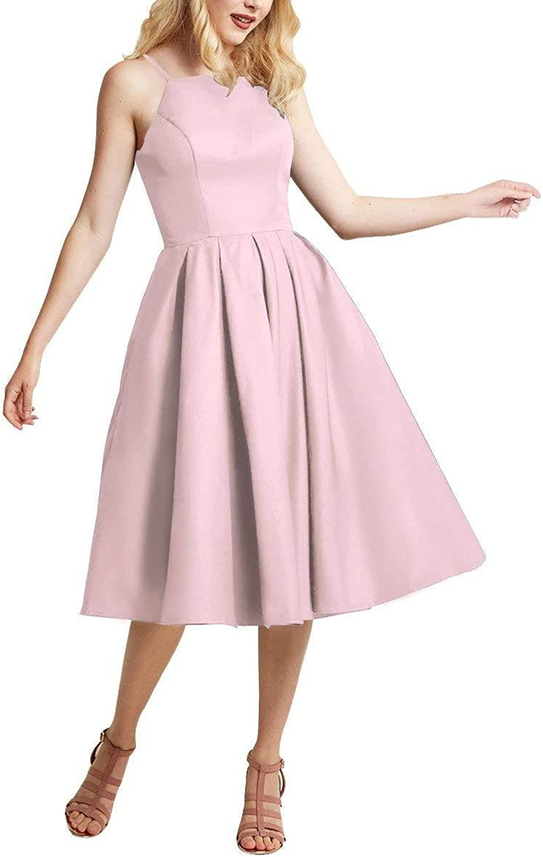 MARSEN Homecoming Dresses Satin Spaghetti Strap 2018 Formal Women Prom Evening Gown