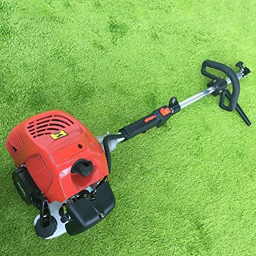 2.3PS 52cc Benzin Kehrmaschine Schneefräse YUNRUX Benzin Motorbesen mit Fahrgestell Elektrostart Schneeschieber Schnellwechsel