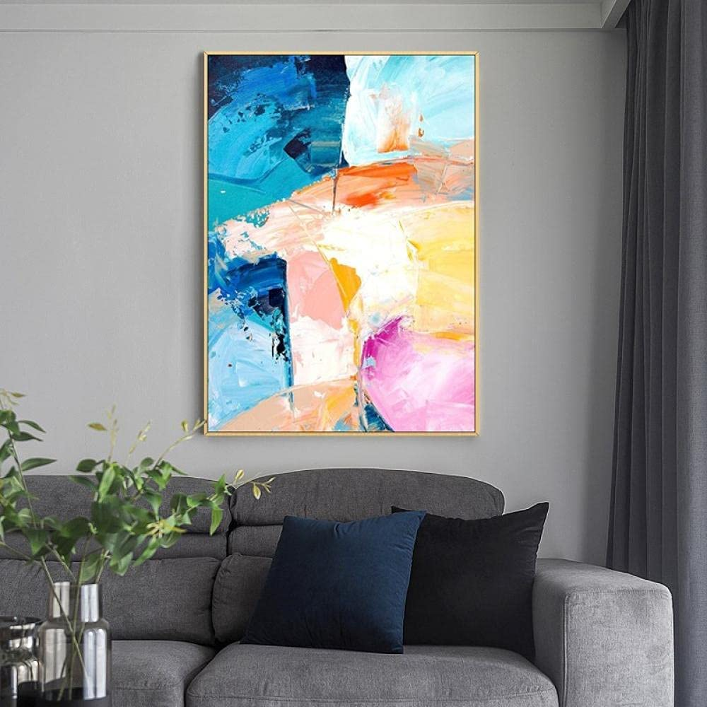 Multi-Color Colorful Hand-Painted 55% OFF Abstract Modern Purchase Minimalist Nor