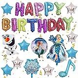 Frozen Fiesta Cumpleaños Decoración, NALCY Invierno Nieve Tema Decoración, Frozen Guirnalda de Globos Decoración, para Niñas Cumpleaños Baby Shower Despedida de Soltera Decoraciones de Fondo