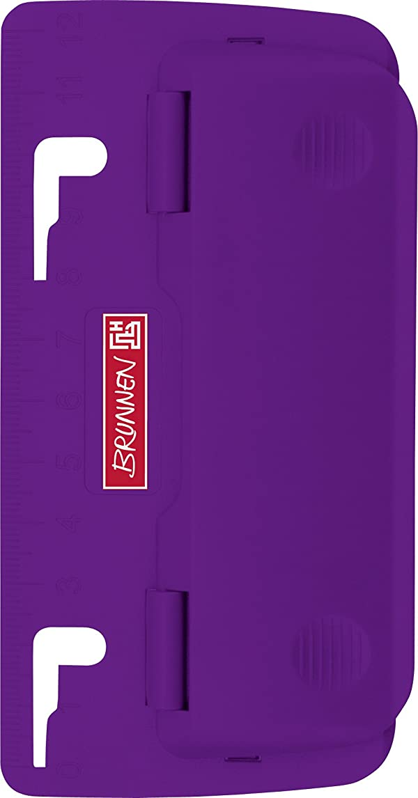 Brunnen Colour Code, Filing 102065060?Pocket Hole Punch with Ruler and Low Retention Strap Violet/Purple odyo5057514661