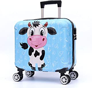 YCYHMYF Cartoon Pattern Portable and Easy to Carry Kids Boarding case Trolley