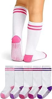 LA Active Knee High Grip Socks – 5 Pairs - Baby Toddler Infant Kids Non Slip/Skid Cotton