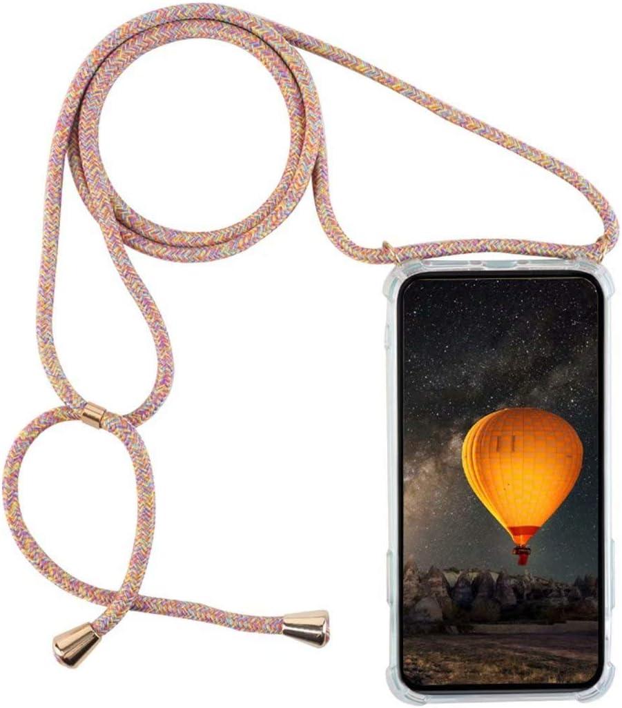 YFXP Funda Compatible con Xiaomi Redmi/S2//Redmi/Y2 Transparente TPU con Correa Colgante Ajustable Collar Correa de Cuello Cadena.
