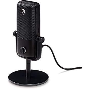 Elgato Wave:1 Premium USB Condenser Microphone and Digital Mixing Solution, Anti-Clipping Technology, TactileMute, Streaming and Podcasting