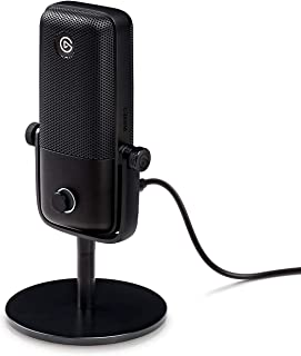 Sponsored Ad – Elgato Wave:1, Premium USB Condenser Microphone and Digital Mixing Solution, Anti-Clipping Technology, Tact...