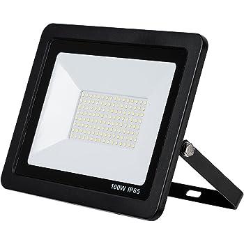 Fluchtlicht-Strahler Außen Leuchte slim 10W LED Fluter kalt-weiß 230V EEK:A