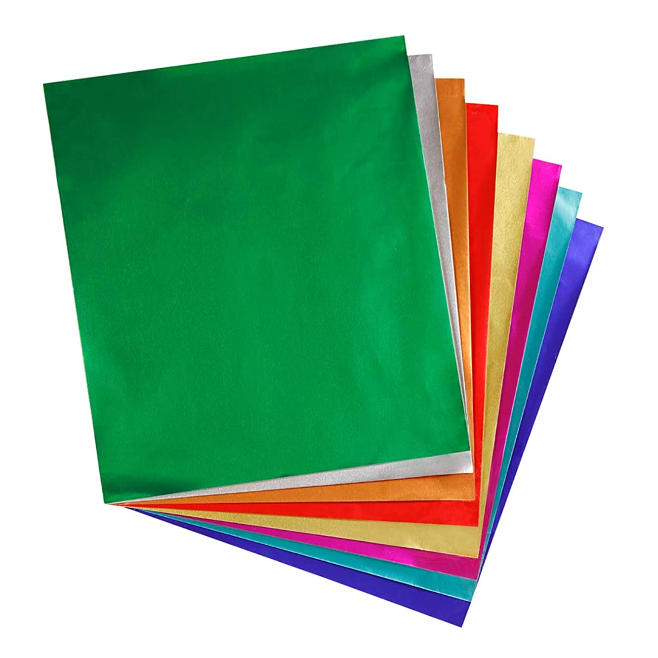 """Hygloss Products Metallic Foil Paper Sheets - 8 Assorted Colors, 8 1/2 x 10"""", 24 Sheets"""