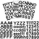 202 Stücke 8 Blätter Selbstklebend Vinyl Buchstaben Nummern Kit, Mailbox Nummern Aufkleber für Schilder, Fenster, Tür, Autos, Lastwagen, Haus, Adressnummer (Schwarz, 2 Zoll)