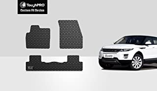TOUGHPRO Floor Mat Accessories Set (Front Row + 2nd Row) Compatible with Land Rover Range Rover Evoque - All Weather - Heavy Duty - Black Rubber- 2012, 2013, 2014, 2015, 2016, 2017, 2018, 2019