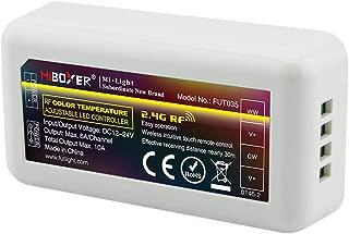 Mi.Light WW+CW LED Strip Light 2.4GHz RF Wireless 4-Zone Controller Receiver Box,Milight WW CW Remote,B2 T2 Panel Or Smartphone APP Control Via iBox1 & iBox2 WiFi Bridge Hub(All Sold Separately)