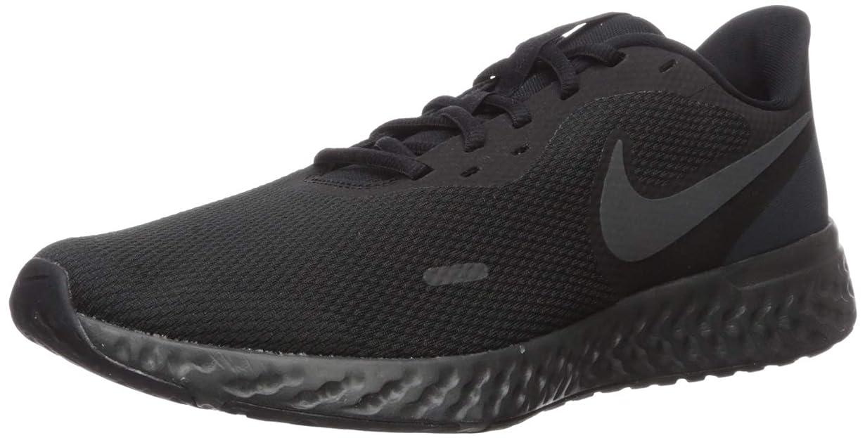 童謡三角形音Nike(ナイキ) メンズ ランニングシューズ レボリューション 5 ワイド US サイズ: 7 X-Wide カラー: ブラック