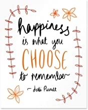 Jodi Picoult Quote Nineteen Minutes Happiness Is What You Choose Poster Print
