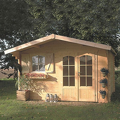 SOLID SUPERIA Chamonix Abri de Jardin Bois, 388x328x242 cm