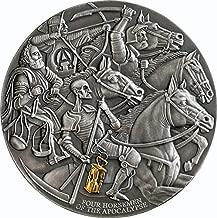 2019 CM Modern Commemorative PowerCoin FOUR HORSEMEN Apocalypse 3 Oz Silver Coin 3000 Francs Cameroon 2019 Antique Finish