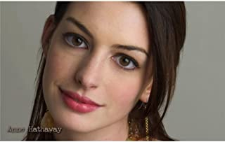 Anne Hathaway Poster by Silk Printing # Size about (96cm x 60cm, 38inch x 24inch) # Unique Gift # 7C8A46