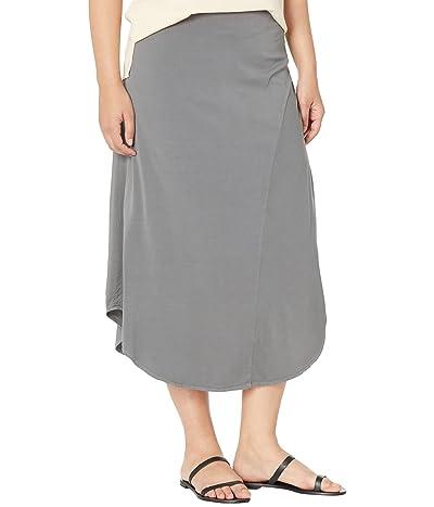 Mod-o-doc Soft Woven Stretch Viscose Asymmetric Draped Skirt