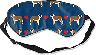 Saint Bernard Hearts Love Dog Breed Pure Breed Nav Sleep Mask Pack Men and Women Or Children Eye Mask No Pressure Eye Masks for Sleep & Travel