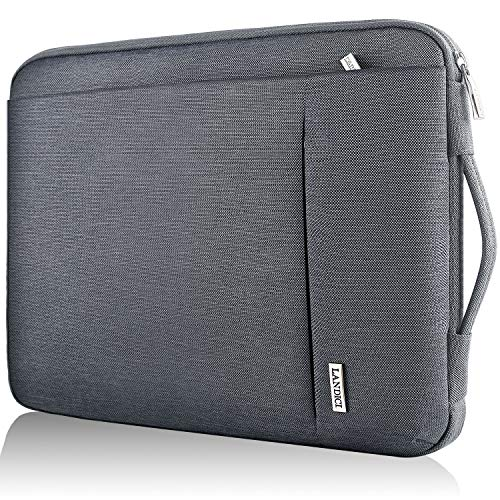 Landici 360 Protective Laptop Case Sleeve 13 13.3 Inch,Slim Computer Bag Cover Compatible with 13' New MacBook Air,MacBook Pro M1 2020,13.5' Microsoft Surface Book,XPS 13,Chromebook with Pocket-Grey