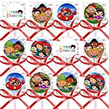 Little Einstein Party Favors Supplies Decorations Lollipops with Red Ribbon Bows Party Favors -12 pcs