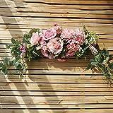 WanBeauty Guirnalda De Flores Artificiales Umbral De La Puerta Guirnalda Arreglos Florales para El Hogar Decoración De La Boda Centros De Mesa Decoración De La Pared del Partido Rosado