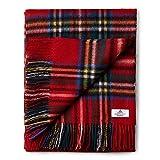 House of Edinburgh Royal Stewart Tagesdecke aus 100 prozent Lammwolle, sehr weich, Tartanmuster