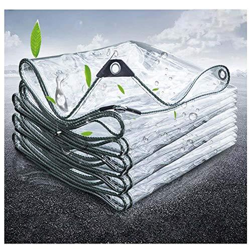 KANGSHENG Lona Transparente Impermeable,400 G/M² Lámina De Lona Impermeable a Prueba De Polvo,Aislamiento PVC Cubierta Exteriores Resistente Al Desgarro,Antienvejecimiento,1.4 * 3m