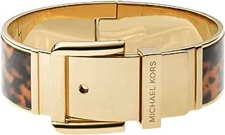 Michael Kors Goldtone Tortoise Wide Buckle Bangle Bracelet