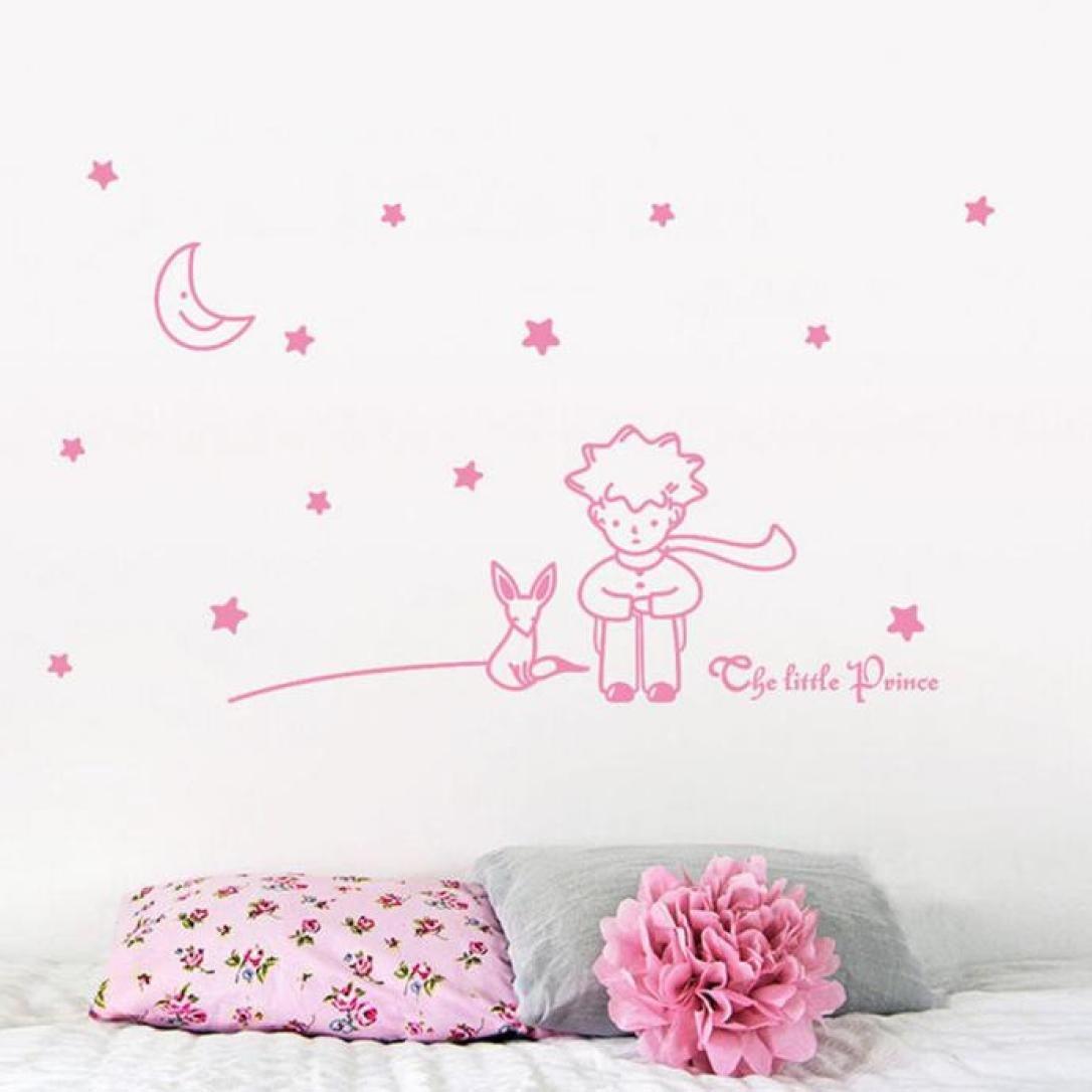 Blanco ❤️Pegatinas de Pared❤️Dragon868 Estrellas Luna el peque/ño pr/íncipe Chico Pegatinas de Pared decoraci/ón de la casa