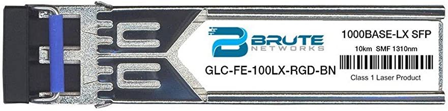 Brute Networks GLC-FE-100LX-RGD-BN - 100BASE-LX 10km 1310nm SFP Transceiver (Compatible with OEM PN# GLC-FE-100LX-RGD)