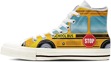 Gnarly Tees Women's School Bus Shoes High Top