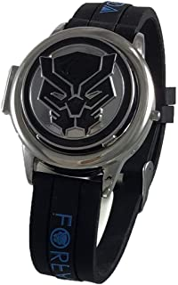 Marvel Black Panther LCD Watch with Spinner Dial