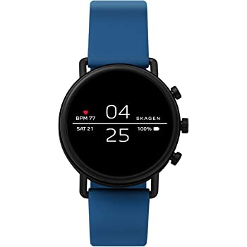 Skagen Connected Falster 2 Stainless Steel and Silicone Touchscreen Smartwatch 2021