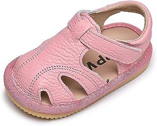 Sandalias Verano Bebé Niñas Niños Zapatos Cuero Suave de Primeros Pasos Bebé Ninos Calzado Playa Antideslizante Puntera Ce...