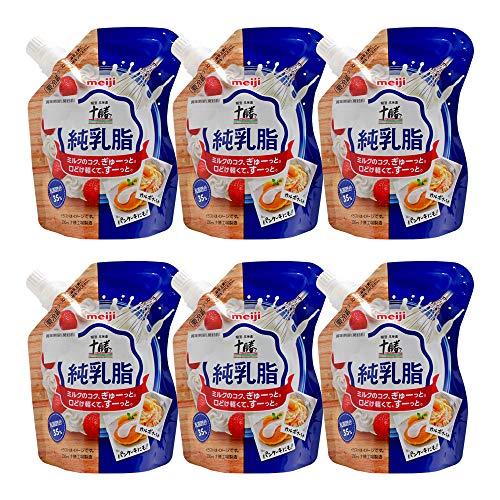 【まとめ買い】生クリーム 北海道十勝純乳脂 明治 200ml x6個セット