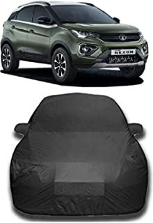 CREEPERS Water Resistant Car Cover for Tata Nexon XZ Plus 2020 (Gray with Mirror Pocket)