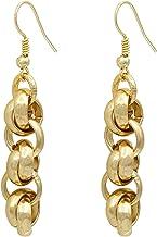 ParticolarModa Orecchini da donna pendenti con nodini intrecciati in alluminio e acciaio fatti a mano argento dorato fumè ...